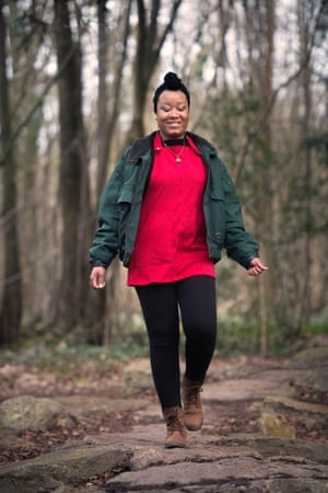 'We are often the uncomfortable ones' … Zakiya Mckenzie walking in Leigh Woods.