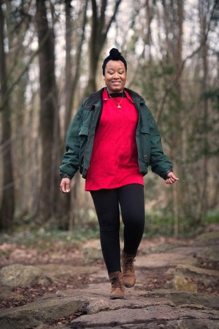'We are often the uncomfortable ones' … Zakiya Mckenzie walking in Leigh Woods.