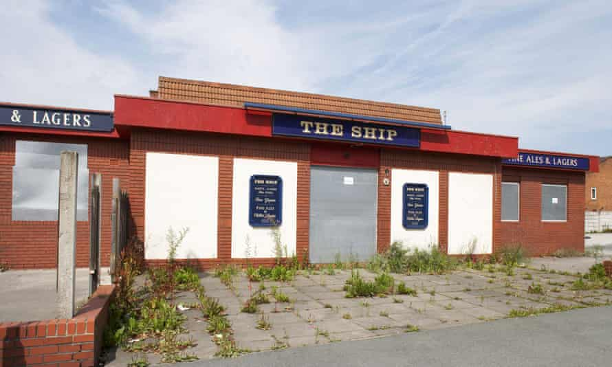 A closed pub in Salford, Greater Manchester