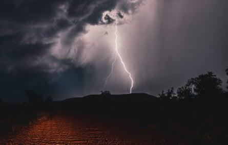 Lightning strike in the outback