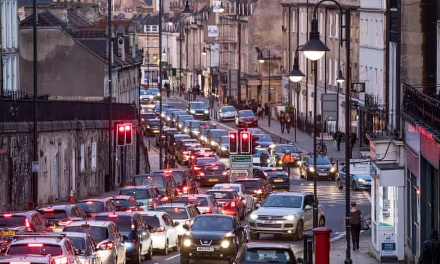 Traffic congestion in Bath, England