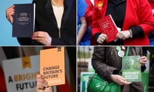 Four main parties election manifestos