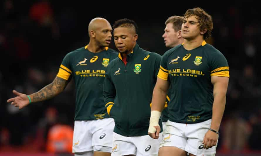 South Africa players after their defeat