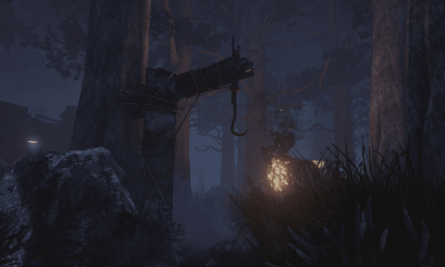 Hidden throughout each murky landscape are meat hooks for the killer to impale victims. Survivors can sabotage these points, but it is a gamble.