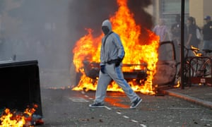 A rioter in Hackney, north London, in 2011. Protests later spread to Britain's major cities.