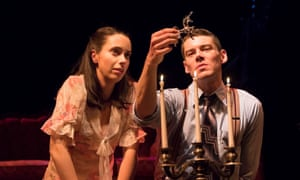 Kate O'Flynn and Brian J Smith in The Glass Menagerie.