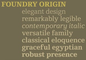 Foundry Origin typeface. Freda Sack and the lettering designer David Quay set up a business partnership under the name The Foundry