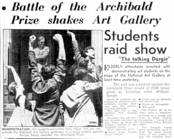 Newspaper coverage of the 1953 protest.