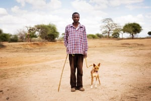 Stephen Muli with his dog Tiger