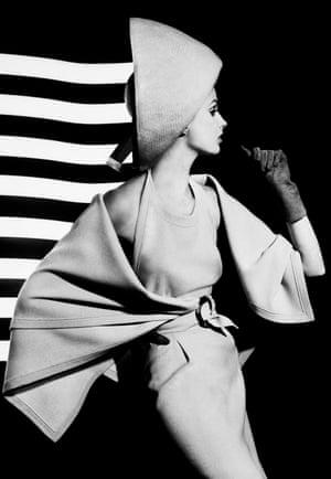 Dorothy and white light stripes, Paris 1962
