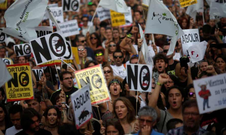 Madrid bullfighting protest