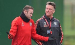 Wayne Rooney and Louis van Gaal