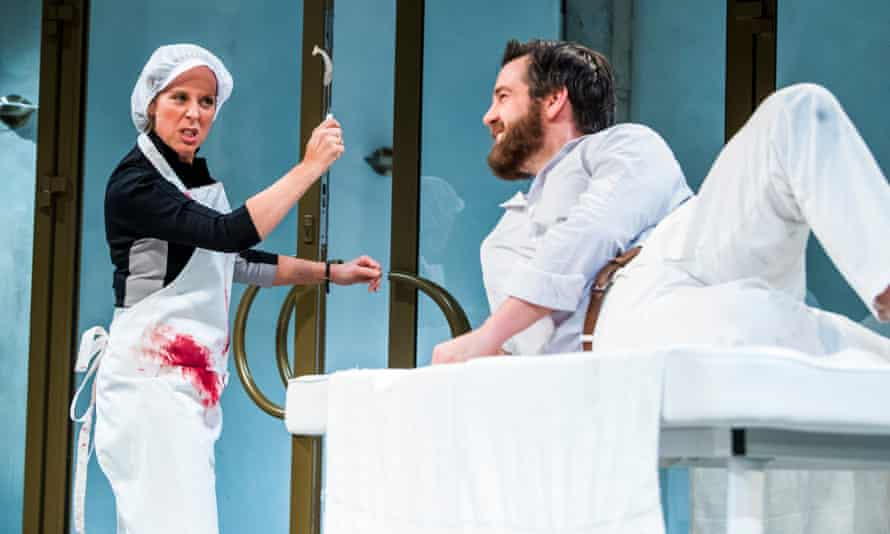 Mel Giedroyc and John Hopkins in Much Ado About Nothing