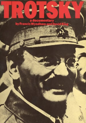 The cover of King's book on Leon Trotsky produced with Francis Wyndham; the former Soviet revolutionary became a central figure in King's career