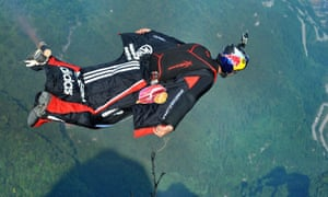 Jhonathan Florez, seen here competing in the Wingsuit World Championships in China in 2013, died during practice in Switzerland last month.