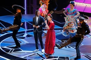 Miguel and Natalia LaFourcade perform