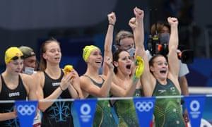 Australia's swimming team