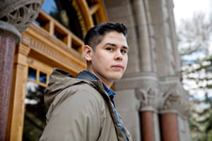 Angel Lopez, Utah State University marketing graduate, was given a $1,000 award in the Koch Scholarship program.