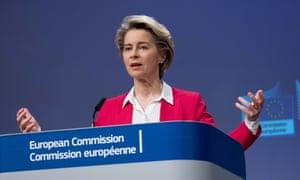 The European commission president, Ursula von der Leyen
