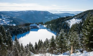 Mummelsee, Black Forest) in winter, Germany.