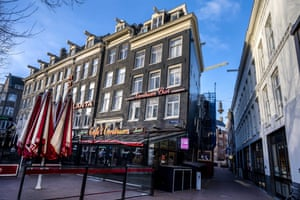 A view on a closed Cafe for rent in Amsterdam, the Netherlands, on 22 January 2021. Due to the coronavirus pandemic and the lockdown, an increasing number of entrepreneurs are unable to survive and have to close their businesses.