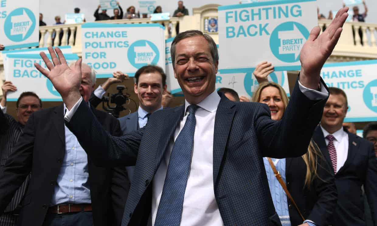 Nigel Farage during a walkabout in Clacton