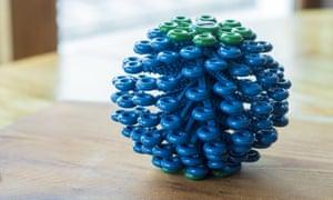 Bola de Cora - bola de lavanderia de captura de microfibra