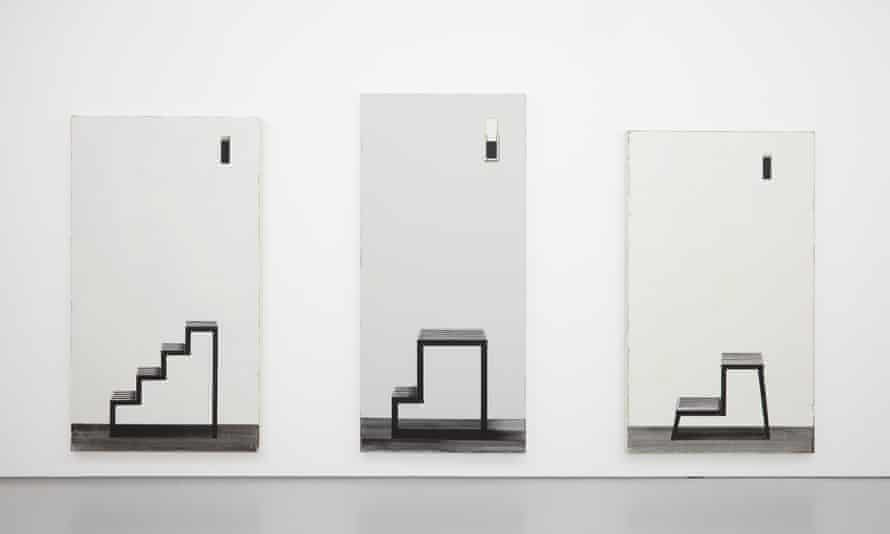Installation view of Leper Squints 18, 20 and 27, by Michael Simpson.