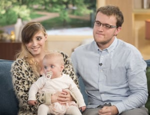 Carla Andrews and Craig Stillwell with Effie on ITV's This Morning in May.