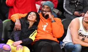 Kobe Bryant and daughter Gianna at a Lakers game in 2019