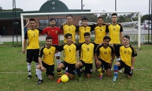 Players from the Afghan Victory Football Club in Dandenong, Victoria, which needs to raise $20,000 for uniforms.