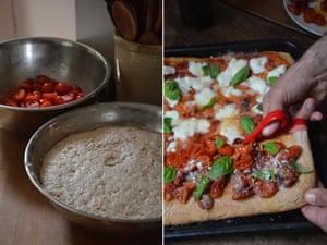 Rachel Roddy's homemade pizza