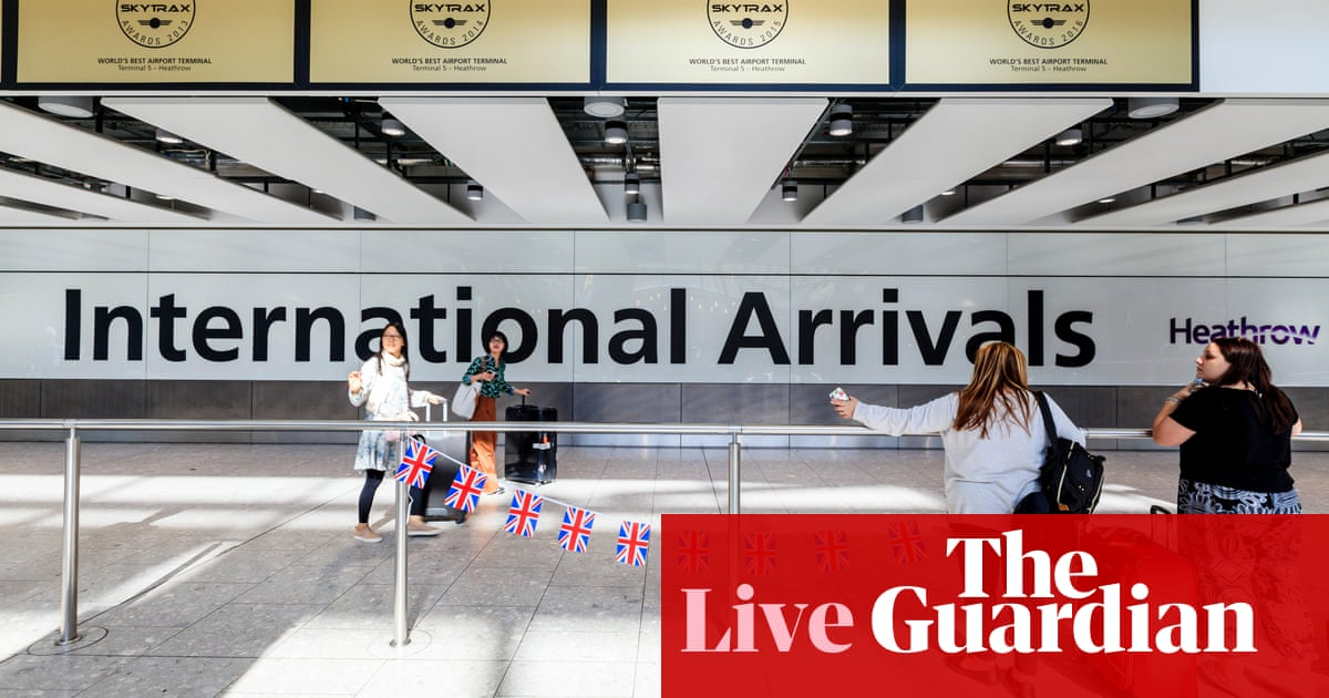 UK Covid: 27,734 new cases as Welsh first minister criticises 'risky' travel plan for US and EU fully jabbed – as it happened