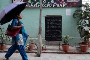 Restaurant in Basantapur, Kathmandu, closed due to shortage of cooking gas