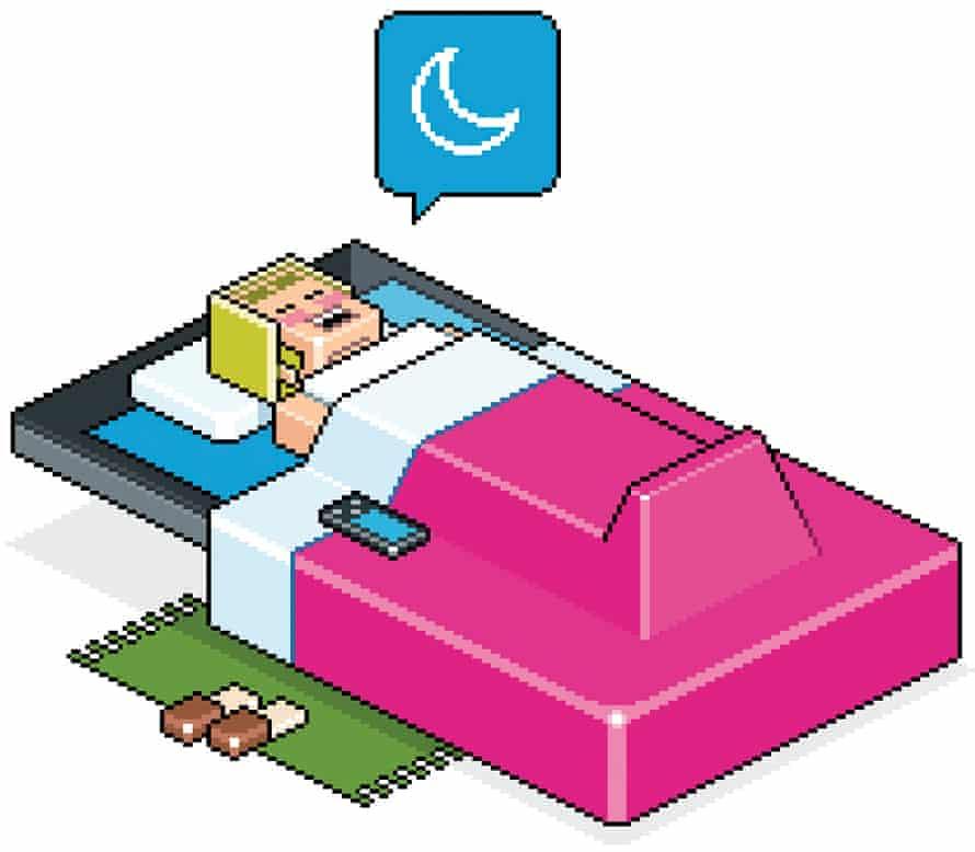 Illustration of a sleep app
