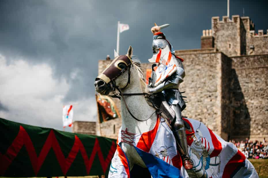 Argo the knight at Leeds Castle