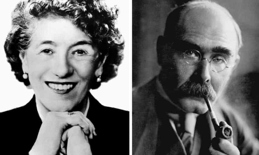 Enid Blyton and Rudyard Kipling.