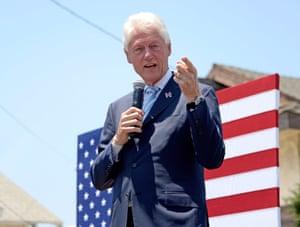 Bill Clinton campaigns in California.