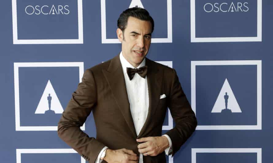 Sacha Baron Cohen at the screening of the Oscars 93rd Annual Academy Awards in Sydney, Australia, this year.