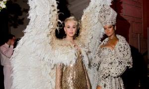 Not camp enough? Katy Perry and Rihanna at this year's Met Gala.