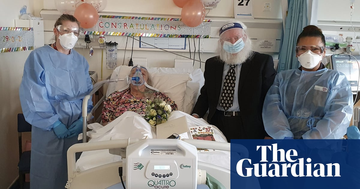 Couple marry on Covid ward 46 years after first meeting