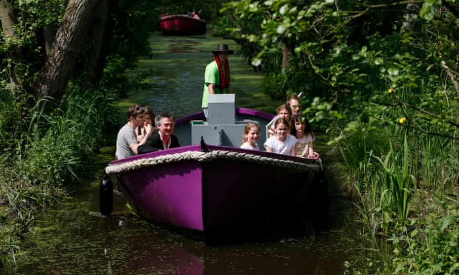 Stories are told during boat trips at the attraction.