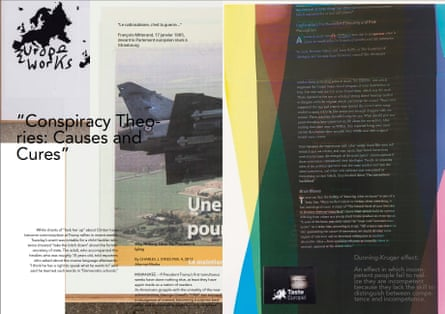 Fluid borders … a spread from What Is Different?
