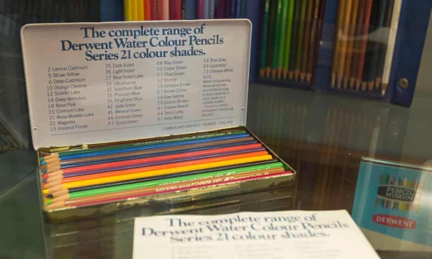 An ancient colour pencil box at the Keswick Pencil Museum