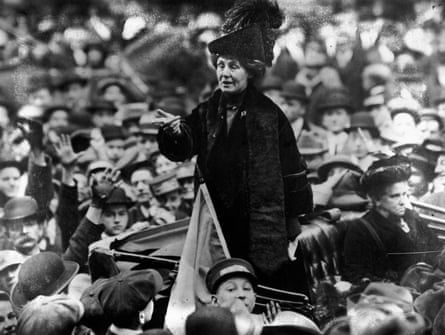 Emmeline Pankhurst (1858 - 1928), being jeered by a crowd in New York.