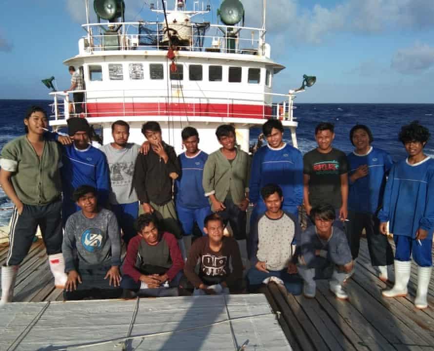 Indonesian crew members of Long Xing 629