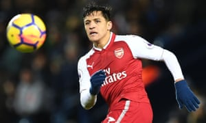 File photo taken on December 31, 2017 shows Arsenal's Chilean striker Alexis Sanchez watches the ball during the English Premier League football match between West Bromwich Albion and Arsenal at The Hawthorns stadium