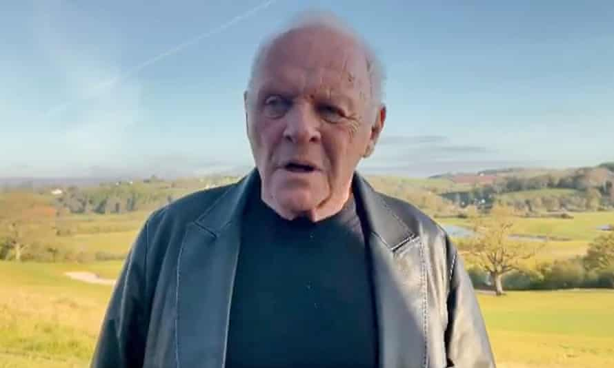 Screengrab of an Instagram post by Sir Anthony Hopkins after he was named best actor at the 2021 Oscars for his role in The Father