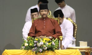 The sultan of Brunei at an event in Bandar Seri Begawan on 3 April.