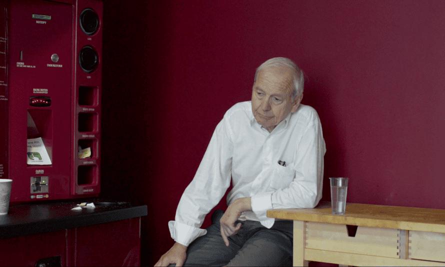 Still of John Humphrys from the video portrait by Nigel Shafran.